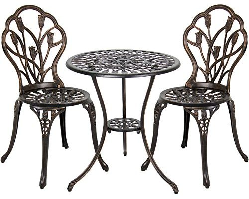 Top 10 Best Cast aluminum outdoor bistro furniture set reviews