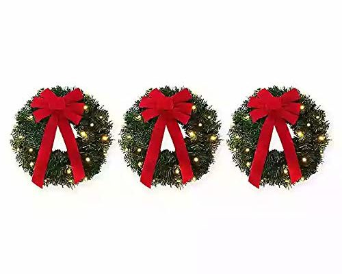 Top 10 Best Christmas Wreaths For Windows reviews.